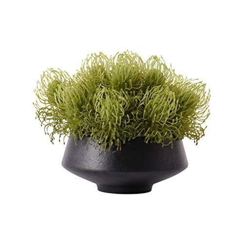 Plante artificielle Style chinois gazon artificiel Fausse fleur artificielle Plante verte, Maison Salon Table basse Table décoration...