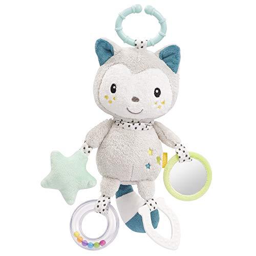 FEHN 057102 Activity-Katze mit Ring / Motorikspielzeug zum Aufhängen mit spannenden Anhängern zum Greifen und Geräusche erzeugen, für Babys und Kleinkinder ab 0+ Monaten