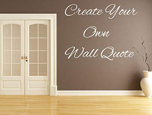 Sticker mural avec inscription « Create and Make Your own »