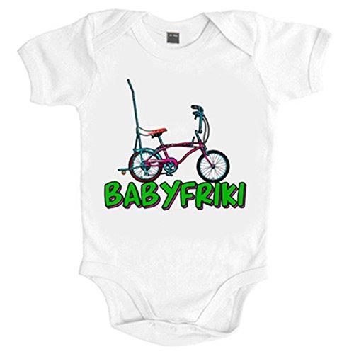 Body bebé Baby friki de la bicicleta - Blanco, 6-12 meses