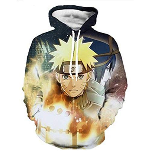 GYMAN Naruto Hoodies Windproof Fleece Pullover Child Adult 3D Print Hoodies Sweatshirts Coat With Kangaroo Pocket For Christmas Birthday Gift,6-2X