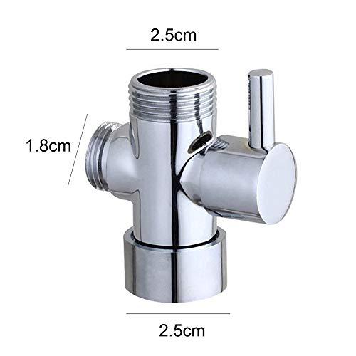 grifo adaptador 3//4 pulgadas Alcachofa de ducha telesc/ópica 3 v/ías SOQNVLN separador de agua desviador