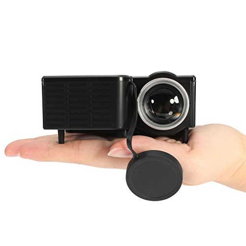 Mini Proyector LED 1080P Multimedia Familia Cine Portátil Home Theater USB TF Tarjeta de Entrada Mini Beamer para PC Portátil, Tipo de UE