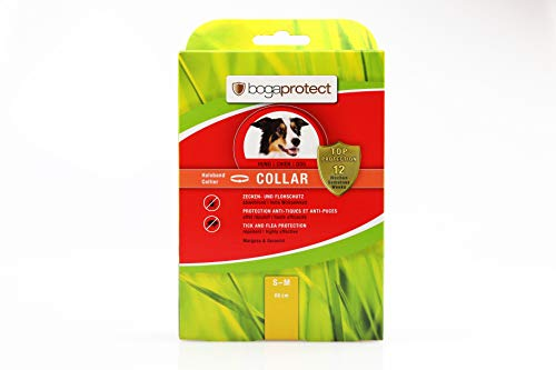 bogaprotect Collar für Hunde - Zeckenmittel - Flohschutz - Zeckenschutz - bis zu 12 Wochen vorbeugender Schutz gegen Zecken & Flöhe - Wirkstoff auf pflanzlicher Basis