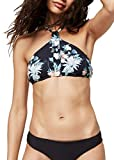 O'Neill Damen PW Cali Mix Bikini Top, Schwarz All Over Print mit Grün, 40