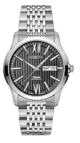 Roamer - Reloj analógico para Caballero de Acero Inoxidable Negro
