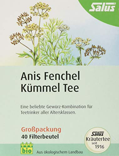 Anis Fenchel Kümmel Tee Salus Filterbeutel 40 stk