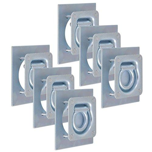 vidaXL 6X Zurrösen für Anhänger Verzinkter Stahl 2000kg Zurrmulden Zurrhaken