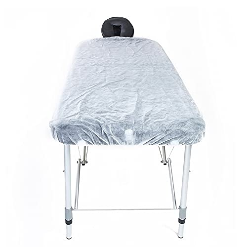 Waterproof Massage Table Cover Disposable Fitted Bed Sheets for Spa White 10PCS 36 x 88 Inch
