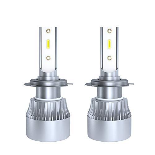 JCMYSH DIRIGIÓ Bombillas de Faros Bombilla LED para Faros Compatible con H7 60W 6000LM 6000K Caja de Aluminio Blanco para Faros de automóviles para Faros de Coche