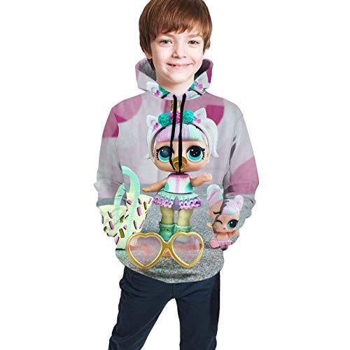 maichengxuan L-O-L. Surprise! Dolls Novelty Sudaderas con Capucha para Niños Cute para Adolescentes