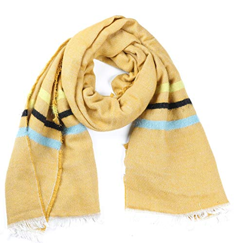 Dielay dames zachte sjaal met strepen - acryl - 180x60 cm