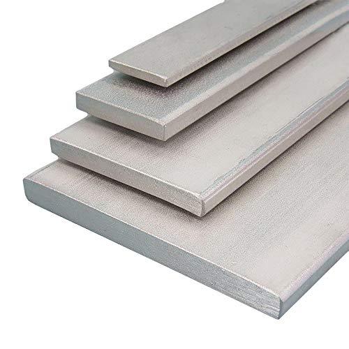 Edelstahl Flachstahl V2A Oberfläche blank, FRACHTFREI, Länge 2000 mm Abmessungen 20 x 3 mm