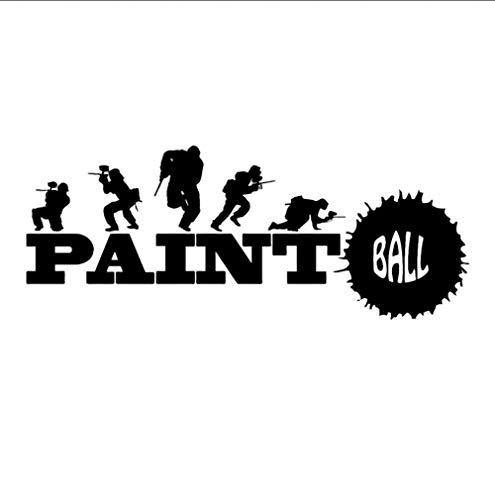 Baibaoxiang Paintball Sport Spiel Teen Room Art Lichtschalter Girl Room Home Decoration Aufkleber, 2 Stk