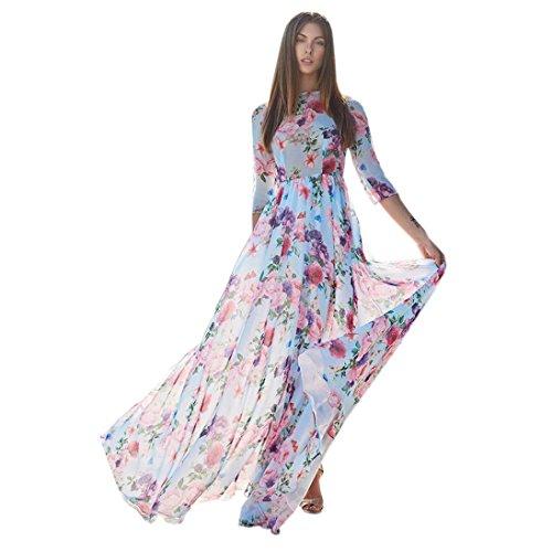 Damen Maxikleid Kleider Lang, Kanpola Elegant Party Madi Kleid Boho Blusenkleider Cocktailkleider Partykleid Abendkleider Festliche Hochzeit
