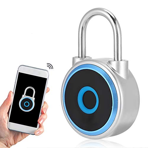 Candado de Huella Digital Recargable USB, Candado Bluetooth Sin Llave A Prueba de Agua IP65, Candado de Seguridad Antirrobo Para Puerta Mochila Maleta Gimnasio