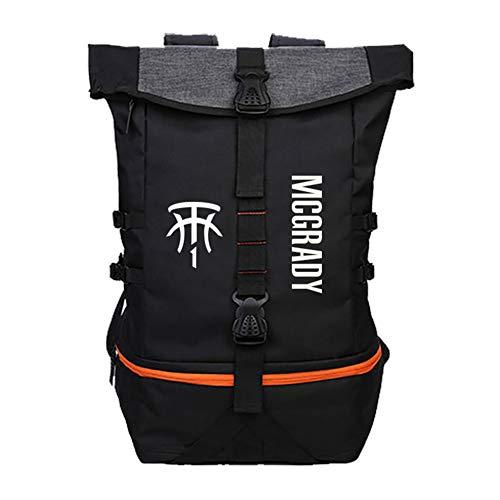 Haoshangzh55 Basketball Fans Backpack No. 1Tracy Mcgrady Outdoor Leisure Fitness Men's Shoulders Basketball Bag Training Bag