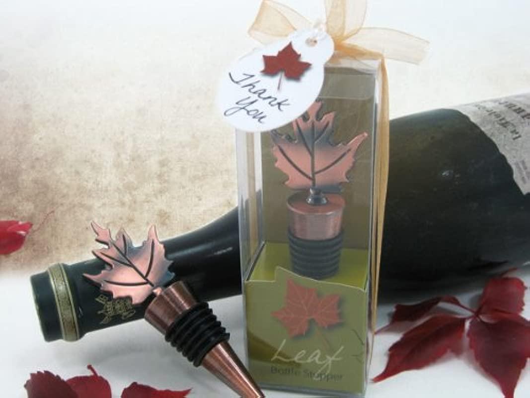 Artisano Designs Bronze Elegance Fall Leaf Bottle Stopper In Designer Gift Box