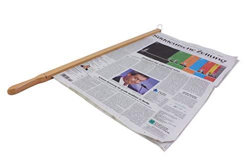 BigDean Zeitungshalter Express Einspannlänge 58cm Buche Natur