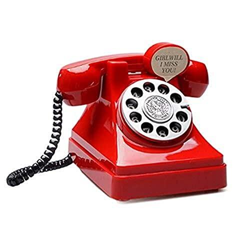 XINKONG Teléfono Forma Dinero Teléfono Caja de Monedas Dibujos de Dibujos de Dibujos giratorios Digital Dinero Dinero Caja Fuerte Piggy Bank Niños Plástico 10.6x14.6cm Tarro de Moneda (Color : Red)