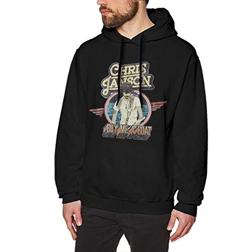 Chris Janson Hoodies Men's Hoodie Sweater Fashion Long Sleeve Top Hooded Sweatshirt Hoodies,Black,Large