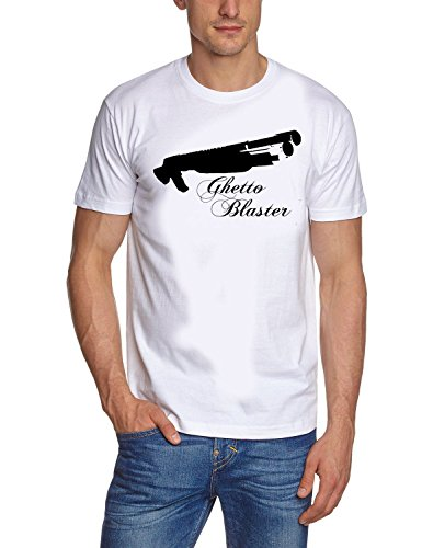 Coole Fun T-Shirts PUMPGUN Ghettoblaster t-Shirt Mafia t-Shirts, Weiss, Grösse: XL