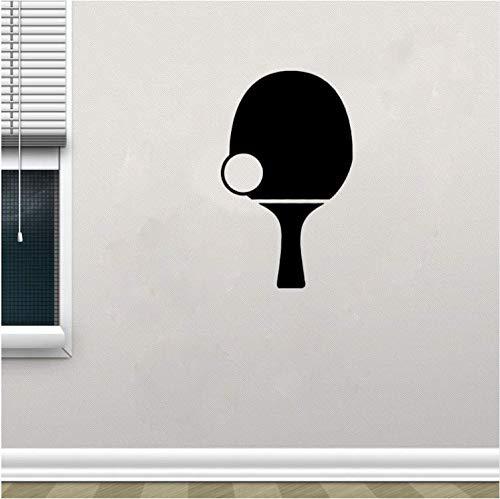 YUTAO Wall Sticker 33 * 60 Cm Tischtennis Grafik Wohnzimmer Das Schlafzimmer Dekor Wandaufkleber Pvc