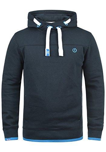 !Solid Benjamin Hood Herren Kapuzenpullover Hoodie Pullover Mit Kapuze Cross-Over-Kragen Und Fleece-Innenseite, Größe:M, Farbe:Insignia Blue (1991)
