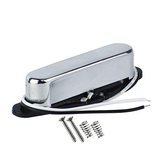 FLEOR Tele Pickup Single Coil Alnico 5 pastillas de cuello para Telecaster piezas de pastillas de guitarra eléctrica, cromo