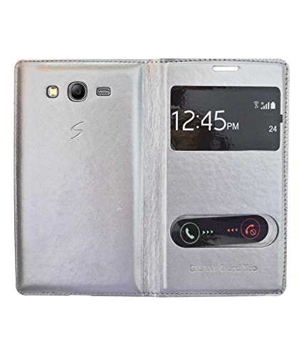 COVERNEW Flip Cover for Samsung Galaxy Grand Neo GT I9060 - Silver WindowFlipGalaxyGrandNeoI9060Silver