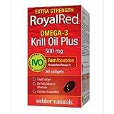 Webber Naturals RoyalRed® Krill Oil Plus, Extra Strength, 500 mg, 60 Softgels