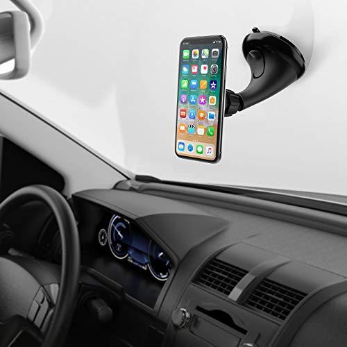 MONTOLA Magnetische Handyhalterung Armaturen & Windschutzscheibe mit Saugnapf -Autohalterung Handy - Handyhalterung mit Magnet fürs Auto - kompatibel mit iPhone 7 7S 7Plus 6 S 6s 8s 9s X XR XS Max