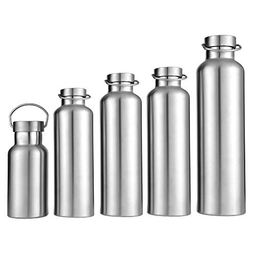Xiaogangpao Ascent 18//8 Stainless Steel Double Wall Vacuum Insulated Water Bottle,Leak Proof Sports Bottle Hydration,Wide Mouth BPA Free Thermos Flask