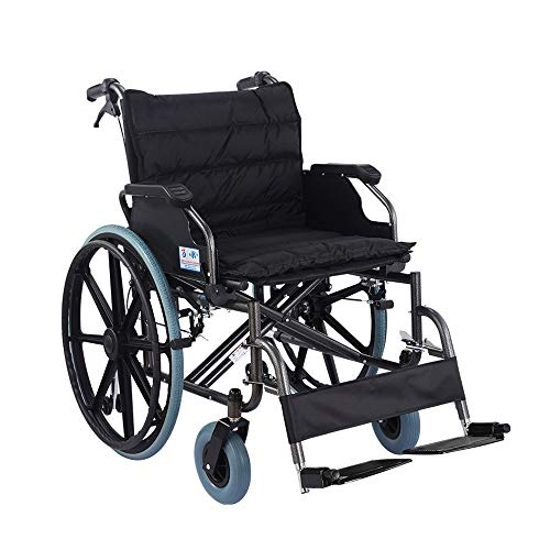 Wheelchair Tragbarer Rollstuhl Faltbare Leichte Tragbare Mit 56 cm Breiten Sitz Übergewichtige Ältere Menschen Behinderte Selbstfahrende Gehhilfe