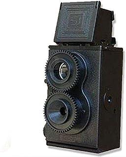 Cámara réflex de Doble Lente DIY TLR de 35 mm cámara Vintage Negra cámara de película Retro Negra