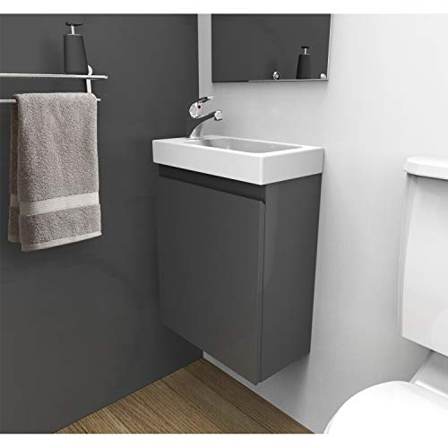 Meuble Lave-Mains Gris L41 x H53 Lisa