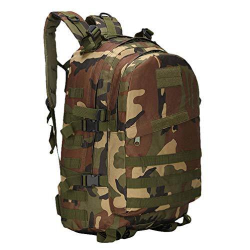Kaiyei Mochila Militar 3 Dias 40L Camuflaje Molle Impermeable Multibolsillo Duradero Outdoor Viaje Tactico Senderismo Asalto Montañismo Ordenador Bolso Camuflaje Selva