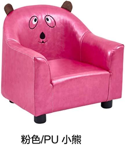 Asdfg HTimer Kinder Sofa Cartoon Baby auf einem kleinen Sofa Jungen und Mädchen Stoff Mini abnehmbar und waschbar Netter einsitzigen, gelb Baumwolle und Leinen Baby-Drachen sitzen Lernen, Rot Pu Panda