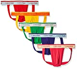 Calvin Klein Men's The Pride Edit 5-Pack Jock Strap, Fury/Crissie Pink/Summer Shine/Envy/Powerful, L
