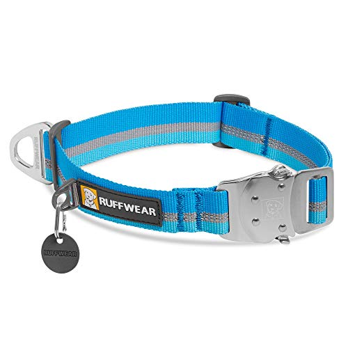 RUFFWEAR, Top Rope Dog Collar, Reflective Collar with Metal Buckle for Everyday Use, Blue Dusk, 14