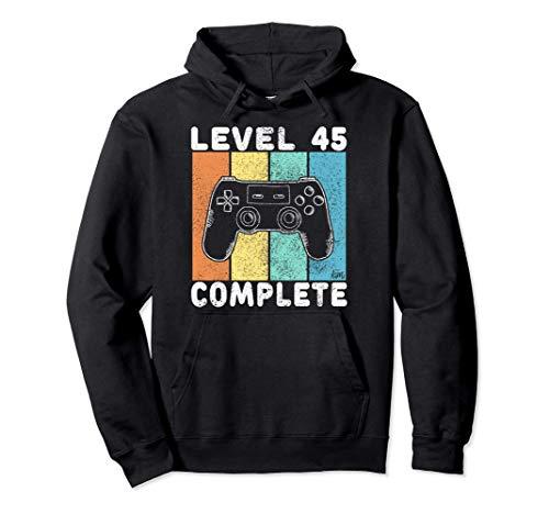Camiseta Gamer Para Hombres 45 Años Regalo 45 Cumpleaños Sudadera con Capucha