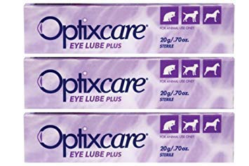 professional OptixCare Eye Lube Plus + Hyaluron, 20g for dogs, cats and horses, pack of 3