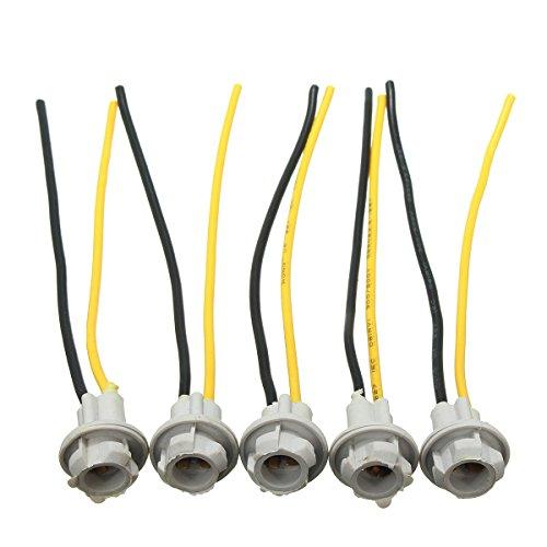ChaRLes 5Pcs Connecteur T10 12Cm W5W 168 194 Lampe De Câble De Lumière LED Douille D'Ampoules
