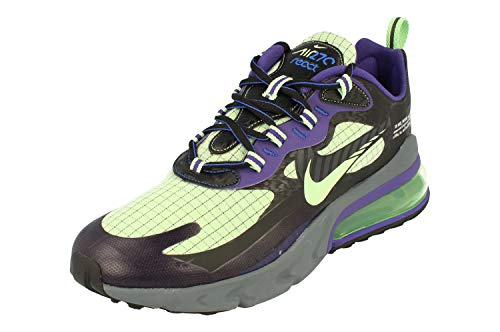 Nike Air Max 270 React Herren Running Trainers CT1617 Sneaker Schuhe (UK 10 US 11 EU 45, Black cool Grey Court Purple 001)