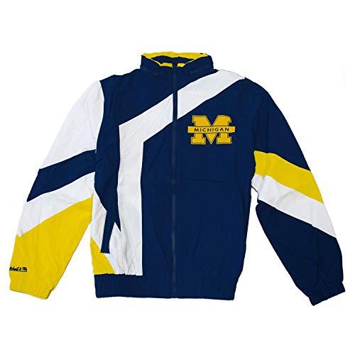 Mitchell & Ness Michigan Wolverines Panneled Windbreaker NCAA Jacke, XXL