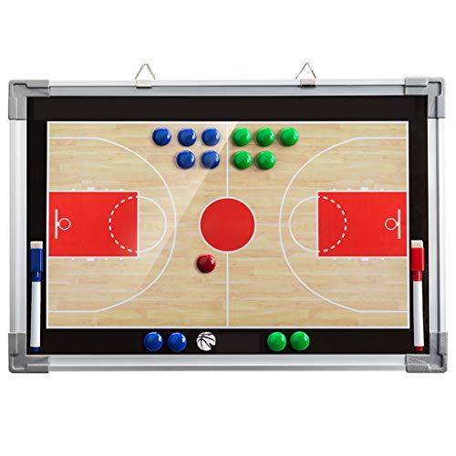 Nanxi Basketball-taktisches Brett,Basketball-Coaching-Brett,Faltbare Magnetische leicht zu tragen Trainer Taktisches Brett für Ballspiele (Farbe : One Color)
