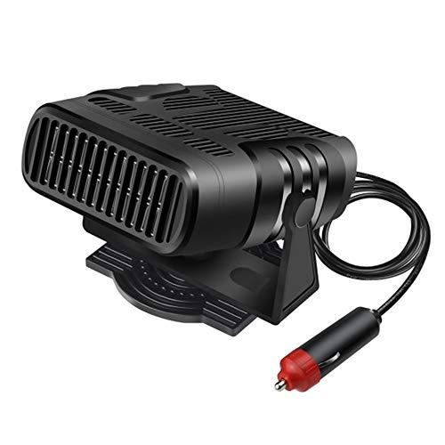 Haihui Calefactor portátil para coche, 12 V, descongelador y ventilador 2 en 1, purificador de aire, deshumidificador de ventanas y calefacción rápida 3S