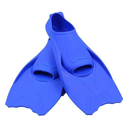 ChangDe-- Aletas de natación Infantil Adult Swim Aletas de Buceo Snorkel Cortos Aletas (Color : Blue, Size : 40-42)