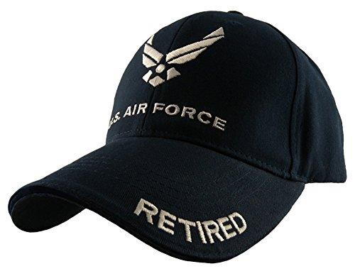 Eagle Crest U.S. Air Force Retired Baseball cap, Navy Blue, Adjustable