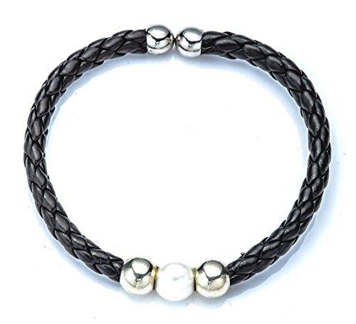 Ana Pearls Armband schwarz